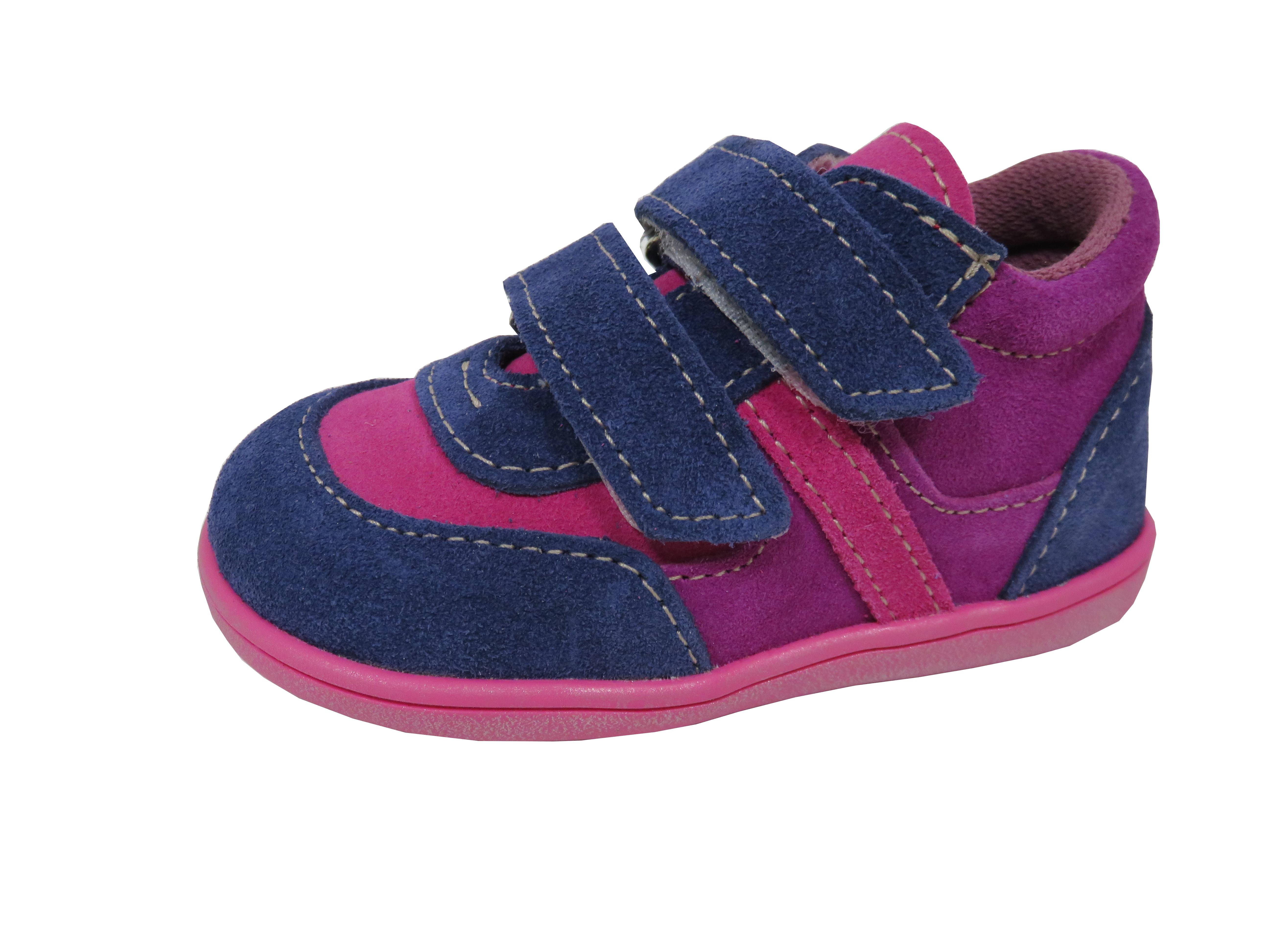 1c6581dea4c Jonap dětské celoroční boty light velcro růžovo-modré