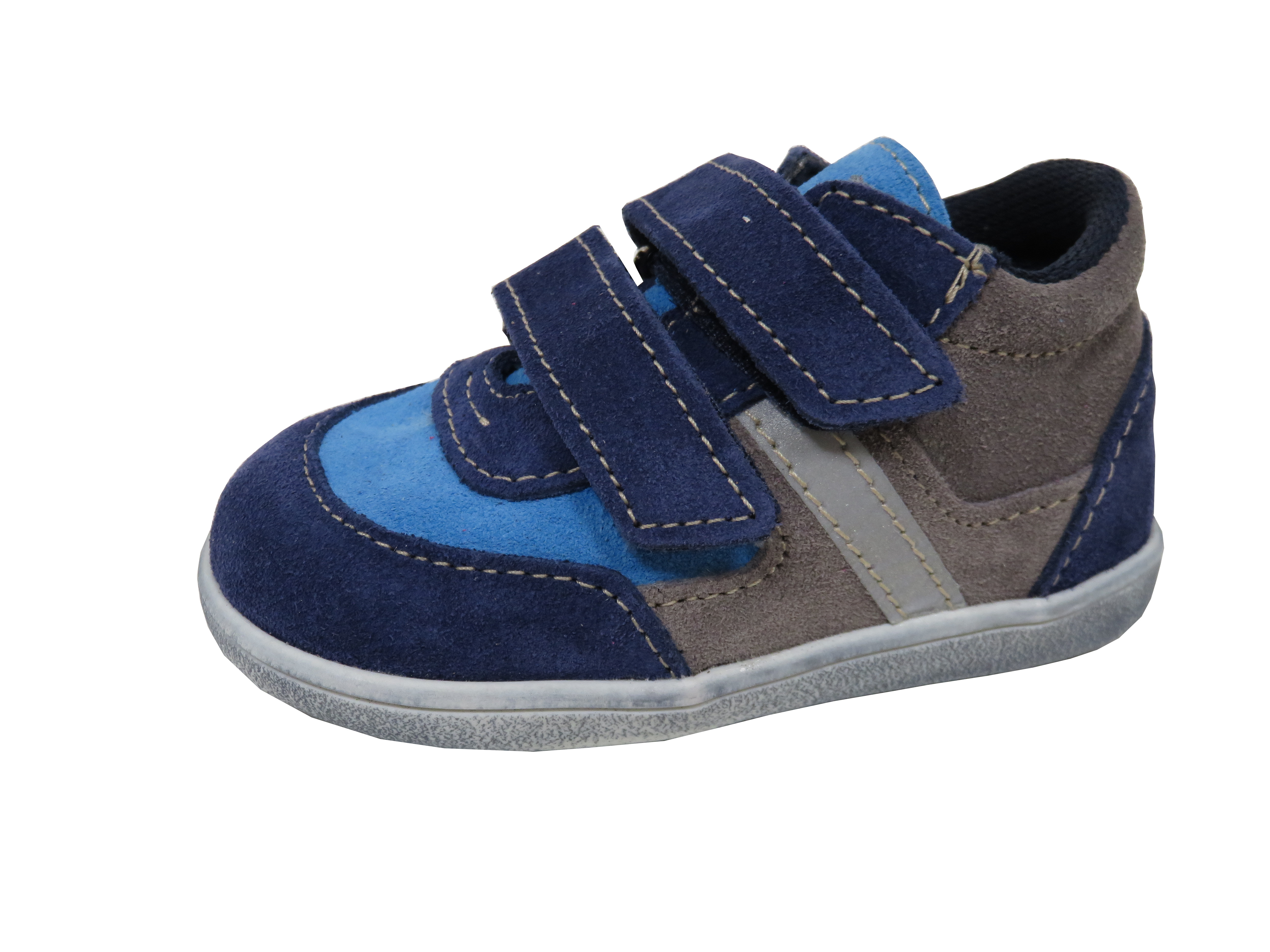1b3aa318689 Jonap dětské celoroční boty light velcro šedo-modré