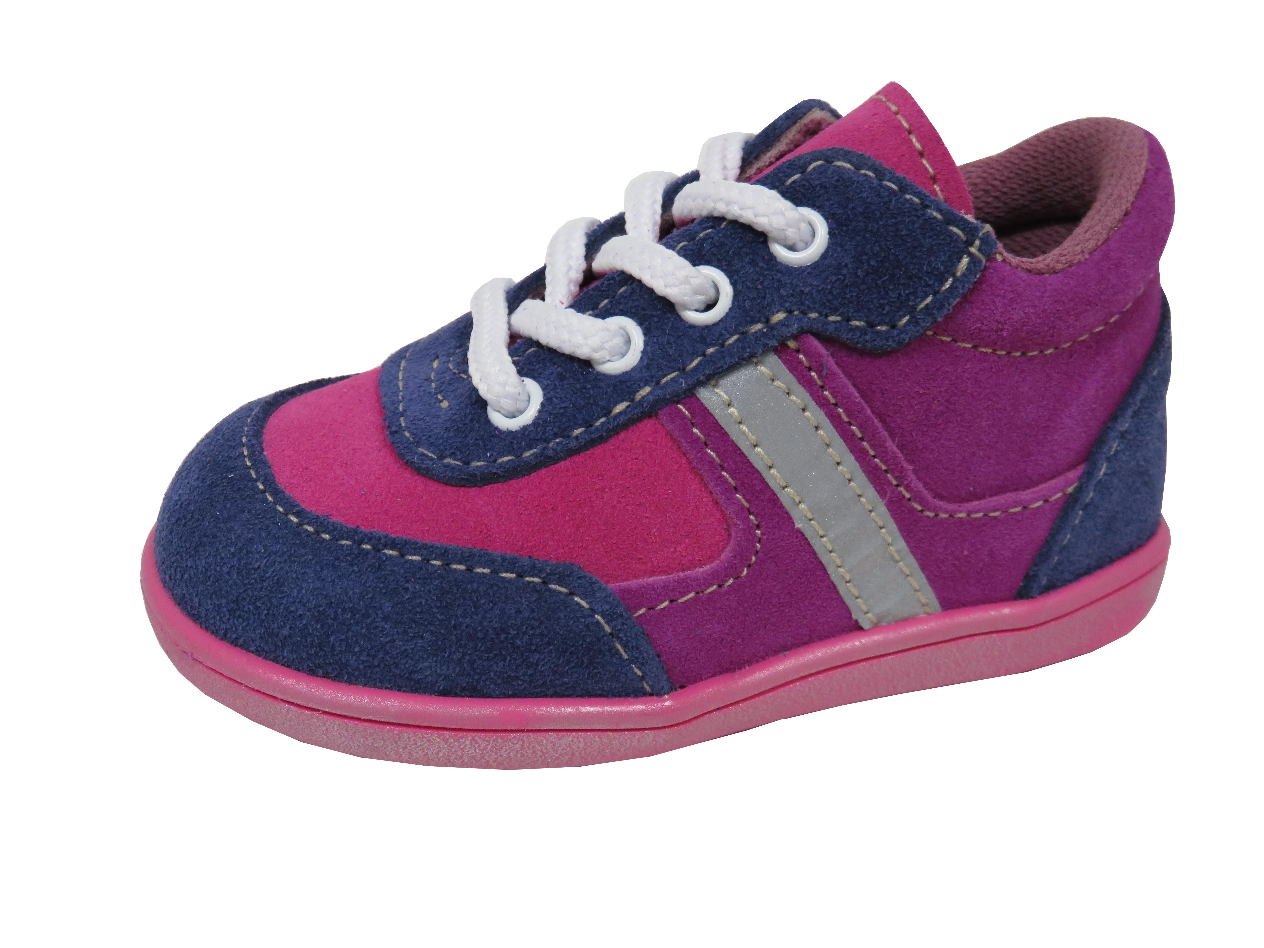 58f39b03814 Jonap dětské celoroční boty light na tkaničky růžovo-modré