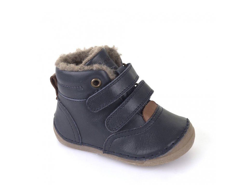 bbc6b7b31d Froddo zimní kotníčkové boty na suchý zip tm.modré
